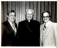 Commissioner of Immigration and Naturalization Leonel Castillo, Cardinal John Krol, and Nelson Diaz.