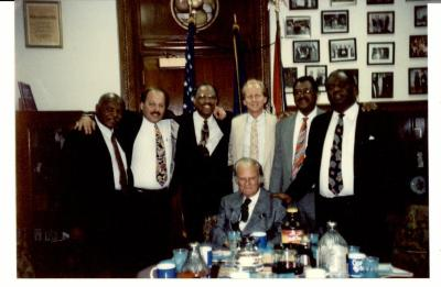 "Group photo of organizers during the ""Greater Philadelphia Billy Graham Crusade"""