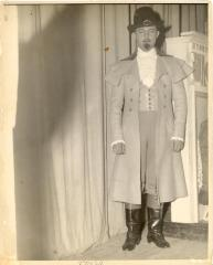 Alfredo Barela in costume for a theatrical performance