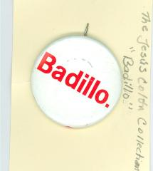 Badillo campaign button