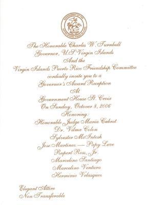 Governor's Award Reception