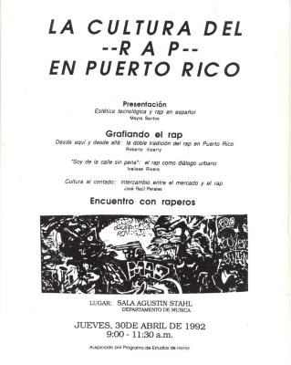 La Cultura Rap En Puerto Rico / The Rap Culture in Puerto Rico