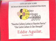 Latino Heritage Committee certificate