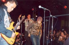 Rock band performing onstage