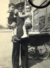 Mario César Romero as a toddler with his family