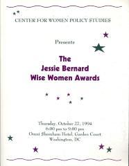Jessie Bernard Wise Women Awards program cover