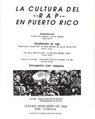 La Cultura Rap En Puerto Rico / The Rap Culture in Puerto Rico
