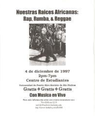 Nuestras Raíces Africanas: Rap, Rumba, and Reggae / Our African Roots: Rap, Rumba, Reggae