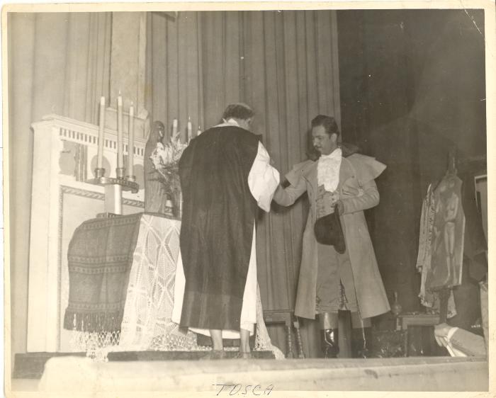 Alfredo Barela in performance onstage