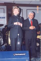 Hillary Clinton onstage