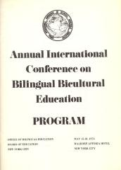 Annual International Conference on Bilingual Bicultural Education program cover
