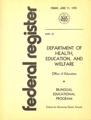 Federal Register - Bilingual Educational Program