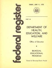 Federal Register - Bilingual Educational Program