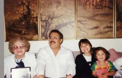 Edgardo Vega Yunqué with his grandmother and his daughter Alyson