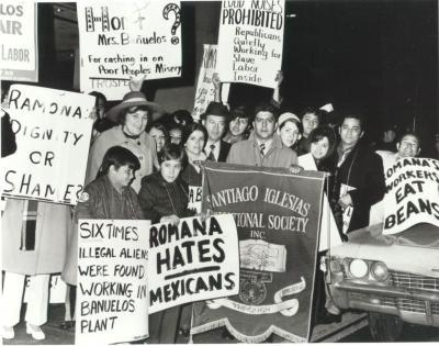 Labor Rights Protest against Romana Acosta Bañuelos