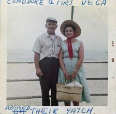 Com[m]odore and Mrs. Vega Aboard Their [Yacht]