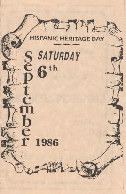 Event Program for Hispanic Heritage Day