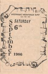 Event Program for Hispanic Heritage Day