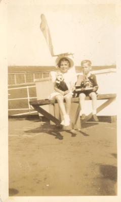 Gabriel and Bertha on a pier