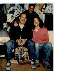 Edgardo Vega Yunqué with artists