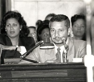 Luis O Reyes at Board meeting