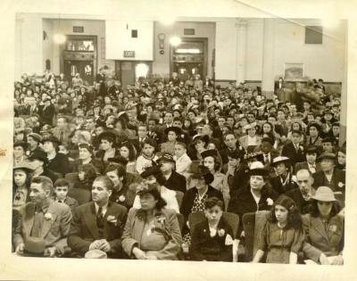 Audience at a community organization presentation