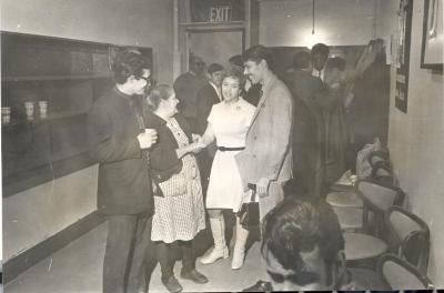 Petra Santiago with Marta Valle at school meeting