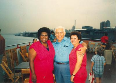 Julia Jorge on a boat
