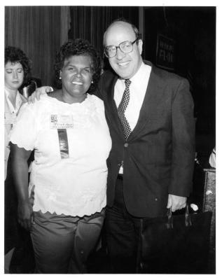 Julia Jorge with Bob Abrams