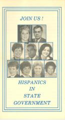Hispanics in State Government pamphlet cover