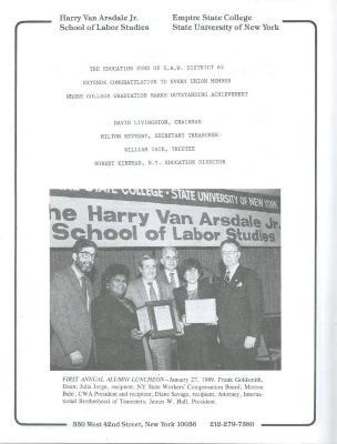 Harry Van Arsdale Jr. Center for Labor Studies - Alumni Luncheon