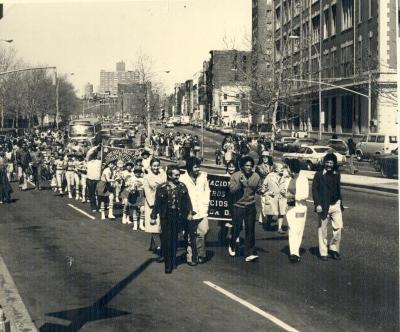 Little Leagues Marching in Lower East Side