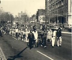 Little Leagues Marching in Lower East Side