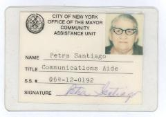 Petra Santiago's Communications Aide ID