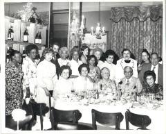 Homero Rosado and Juanita Arocho at a party