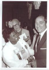 Julia Jorge with New York Governor Mario Cuomo during his second term
