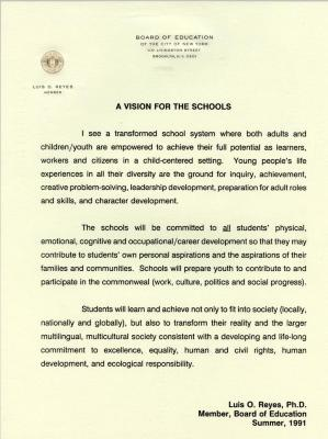 A Vision for the Schools