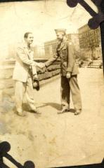 Victor Torres with fellow soldier
