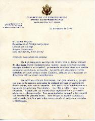 Letter to Sr. Victor Fragoso
