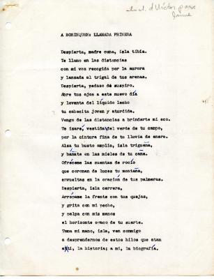 """""""A Borinquen: Primera Llamada"""" / To Borinquen: First Call"""