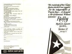 Puerto Rican Solidarity Committee Rally