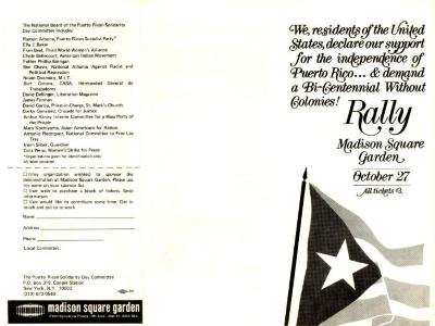 Puerto Rican Solidarity Committee Rally