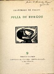 Julia de Burgos anthology book cover