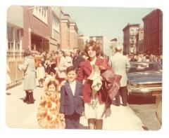 Family on City Street