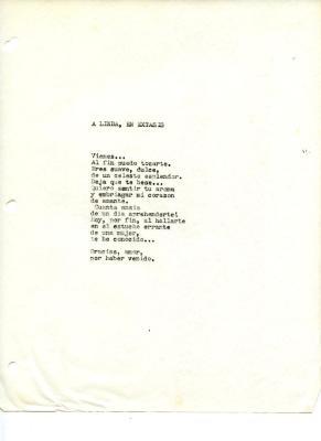 """A Linda, En Extasis"" / To Linda, in Ecstasy"