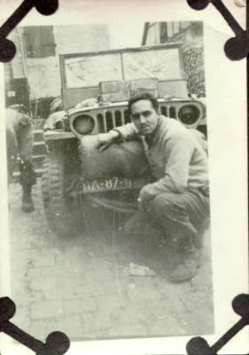 Victor M. Torres with his car