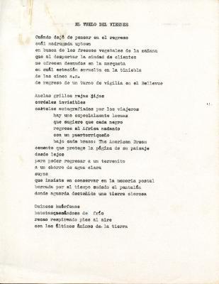 """""""El Vuelo del Viernes"""" / Friday's Flight"""