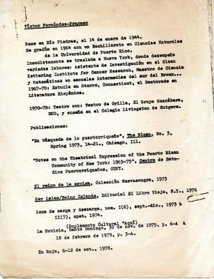 Victor Fernández Fragoso - Notas Biograficas