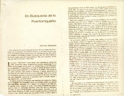 En Búsqueda de lo Puertorriqueño / In Search of the Puerto Rican