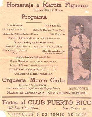Homenaje a Martita Figueroa / Homage to Martita Figueroa